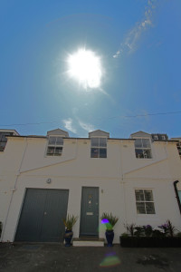 A eco-home in a conservation area 1800s coach house
