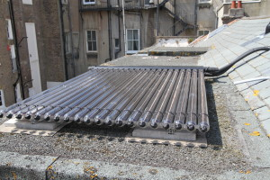 among other features we installed a solar hot water system