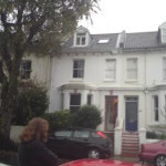 A typical Victorian Terraced house in Brighton
