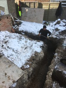 Foundations in the snow